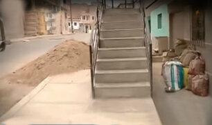 """Chorrillos: """"Vecinos sin límites"""" instalan escaleras y rejas en veredas"""