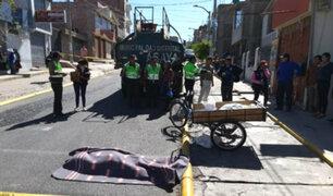 Arequipa: panadero muere tras ser arrollado por cisterna