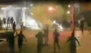SJM: barras bravas desatan feroz balacera en Pamplona