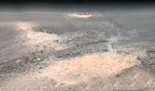 Comas: falta de señalización y pistas en mal estado en la avenida Túpac Amaru