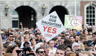 """Irlanda: el """"sí"""" a la reforma del aborto gana el referéndum con el 66,4 % de votos"""
