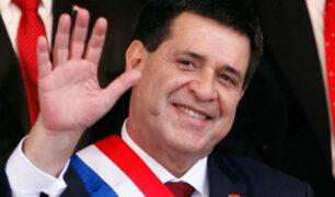 Presidente de Paraguay renuncia al cargo para asumir como senador