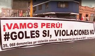 Policía impide manifestación cerca al Estadio Nacional