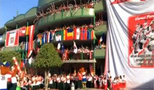 Perú vs. Escocia: escolares y profesores alientan a la selección en SJL