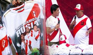 Gamarra se viste de rojo y blanco a pocas horas del encuentro Perú vs Escocia