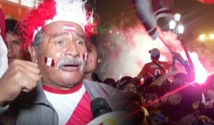 Centro de Lima: así celebraron los hinchas el triunfo de la Bicolor