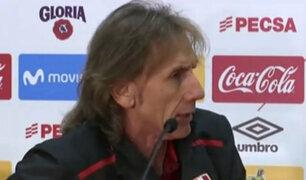 """Ricardo Gareca: """"Perú está preparado para enfrentar a cualquier selección del mundo"""""""