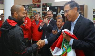 Presidente Vizcarra despidió a la Bicolor en La Videna