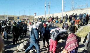 Puno: manifestantes intentan ingresar a conocido supermercado