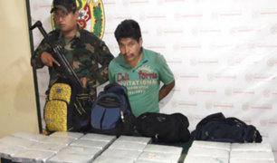 Policía captura a 'mochilero' con más de 20 kilos de cocaína en Ayacucho
