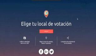 Elecciones 2018: ONPE habilitó aplicativo para elegir local de votación