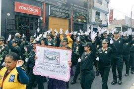 SJL: unas 3,000 personas marcharon contra la violencia hacia la mujer