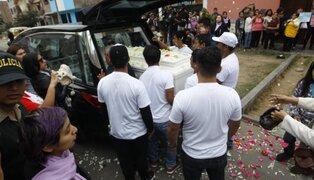 Eyvi Ágreda fue sepultada en medio de pedidos de justicia