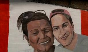 Callao: pintan mural con rostros de Paolo Guerrero y Doña Peta