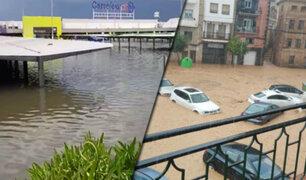 España: lluvias torrenciales causan inundaciones en Valencia