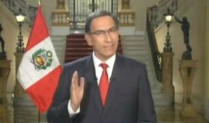 Presidente Vizcarra confirmó renuncia de ministro de Economía en mensaje a la Nación