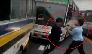 Jesús María: conductores detienen el tránsito y se agarran a golpes en plena av. Brasil