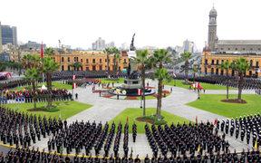 Cerrarán calles aledañas a la Plaza Bolognesi por ceremonia del Día de la Bandera