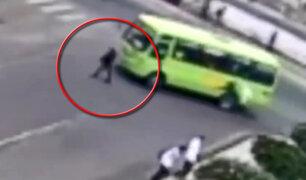 Tacna: mujer es atropellada por bus de transporte público