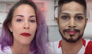 Maquilladora se transforma en Paolo Guerrero