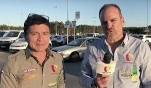 Panamericana Televisión llegó a Suecia para seguir a la Bicolor