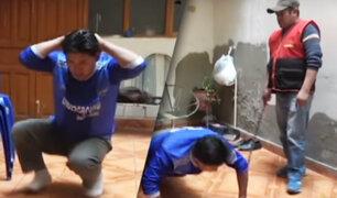 Cajamarca : rondas campesinas castigan a padre por agredir a sus menores hijos