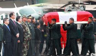 Rinden honores a policías asesinados en el VRAEM