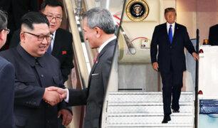 Donald Trump y Kim Jong-un ya están en Singapur para encuentro histórico