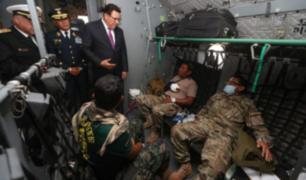 Llegan a Lima militares heridos en el Vraem