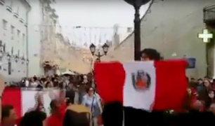 Mundial Rusia 2018: hinchas peruanos invaden calles de Moscú
