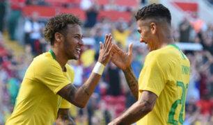 Así celebraron los hinchas brasileños en Miraflores