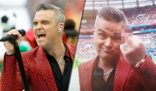"""Robbie Williams y su """"gesto"""" para inaugurar el Mundial de Rusia"""
