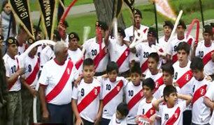 Los futuros valores del fútbol peruano también alientan a la Blanquirroja