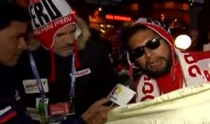 Rusia: hinchas viven verdadera fiesta en la previa del partido ante Dinamarca