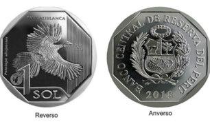 BCR: lanzan nueva moneda de S/ 1 con figura de pava aliblanca