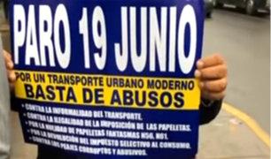 """Transportistas: """"No hay una política clara ni de reordenamiento en Lima y Callao"""""""
