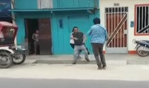 Iquitos: sujetos se pelean en vía pública por el amor de una mujer
