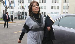 Martha Chávez es cuestionada por presunta defensa a acusado de lavado de activos