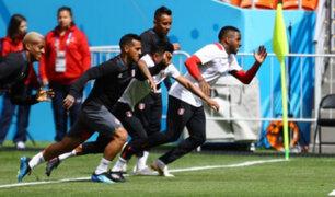 Selección Nacional tuvo su último entrenamiento a un día de su debut en Saransk
