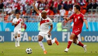Perú perdió  1 a 0  ante Dinamarca en su debut en el Mundial Rusia 2018