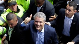 Derechista Iván Duque es el nuevo presidente de Colombia