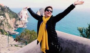 Gigi visita el museo del Vaticano, Pompeya, Capri y la bahía de Nápoles en Italia