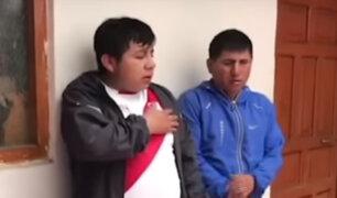 Cajamarca: rondas castigan y obligan a ladrones a cantar el Himno Nacional
