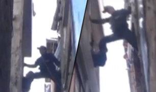Cajamarca: sereno trepa tres pisos para rescatar a niña encerrada