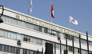 JNE podría suspender inscripción de partidos políticos por financiamiento ilícito