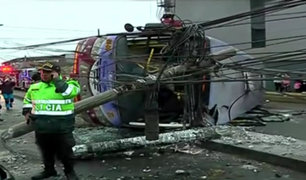 Cercado: al menos 15 heridos tras violento accidente de tránsito