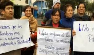 Los Olivos : vecinos exigen mayor presencial policial frente a prostitución en la zona