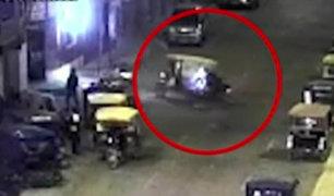 Piura: mototaxista choca aparatosamente con motociclista en Paita
