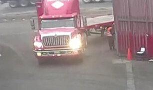 Vecinos protestan por paso de trailers en zonas angostas del Callao