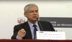 """Villanueva descarta ruptura de relaciones con """"Peruanos por el Kambio"""""""